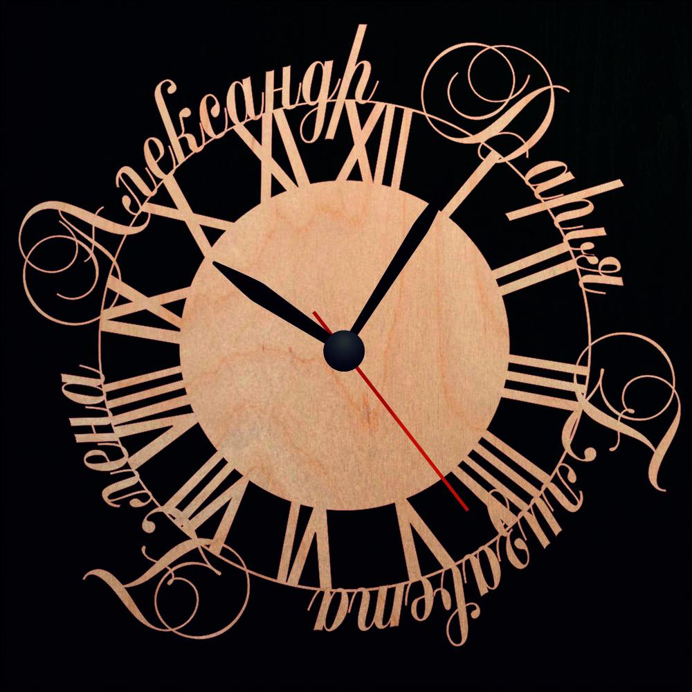 Настенные часы с именами всей семьи