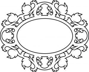 Монограмма свадебная овальной формы