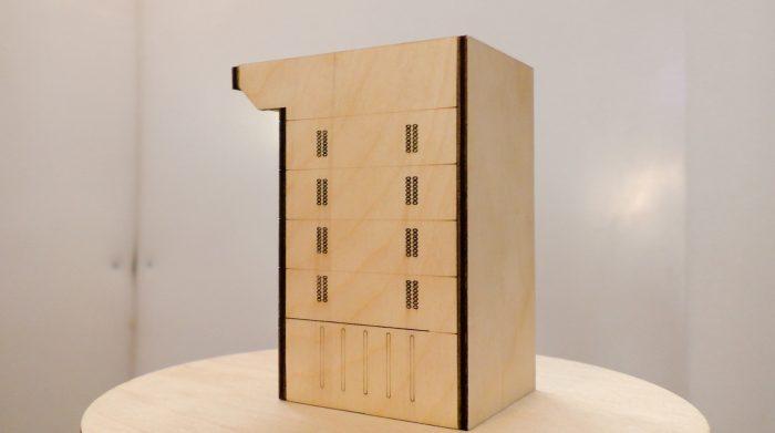 подовая печ Вернер & Пфляйдерер модель из фанеры