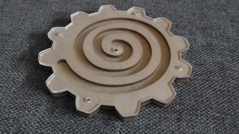 шестеренки заготовки из фанеры