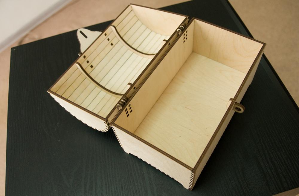 Сундук - шкатулка из фанеры 4мм